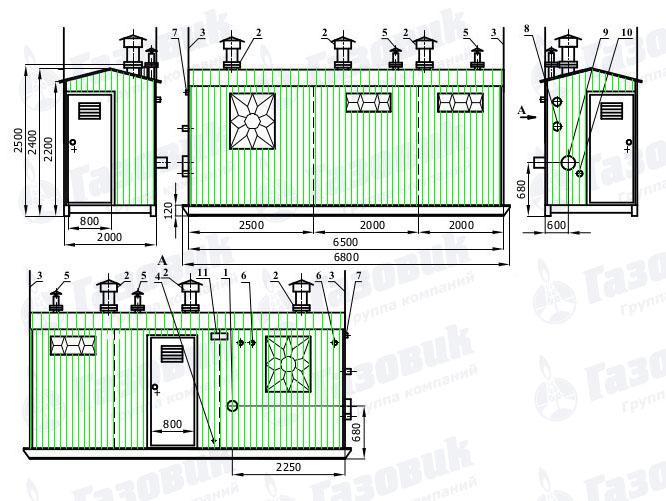 Габаритный чертеж ПГБ-13-2Н-У1