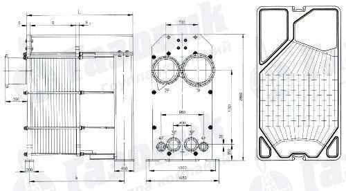 Теплообменник размер характеристика теплообменник korf рекуператор pr 60-35 пластинчатый